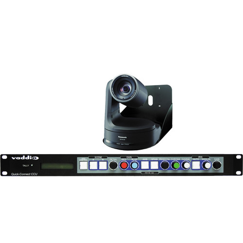 Vaddio WallVIEW HD Pan/Tilt/Zoom HE120 Camera and Control System (Black)
