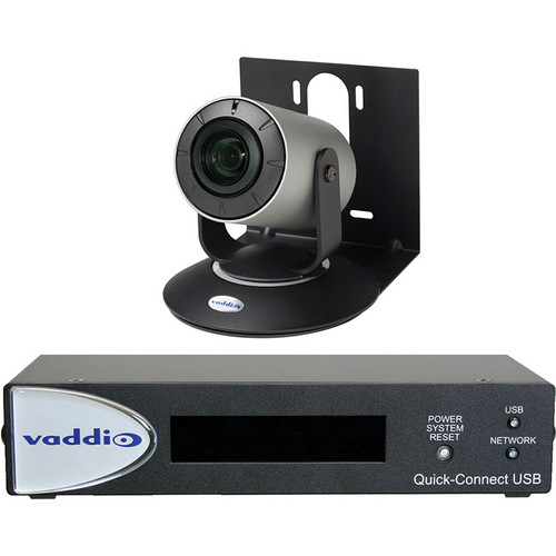 Vaddio WideSHOT Conferencing Camera with Wide-Angle 3x Varifocal Zoom Lens & Quick-Connect USB (NTSC)