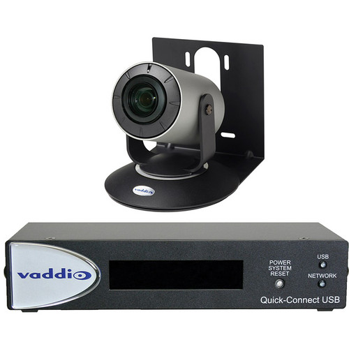 Vaddio WideSHOT Conferencing Camera with Wide-Angle 3x Varifocal Zoom Lens & Quick-Connect USB Mini (NTSC)