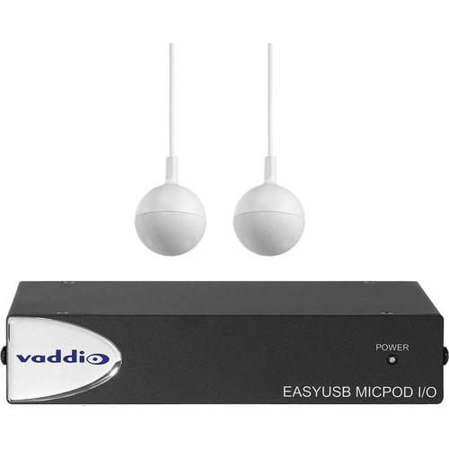 Vaddio EasyUSB MicPOD I/O Interface with Two CeilingMIC Microphones