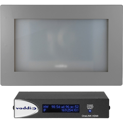 Vaddio RoboSHOT In-Wall Smart Glass OneLINK HDMI System (Primed)