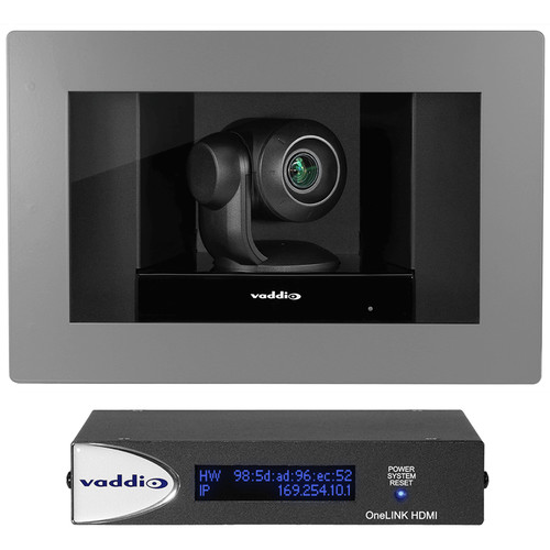 Vaddio RoboSHOT In-Wall Clear Glass OneLINK HDMI System (Primed)