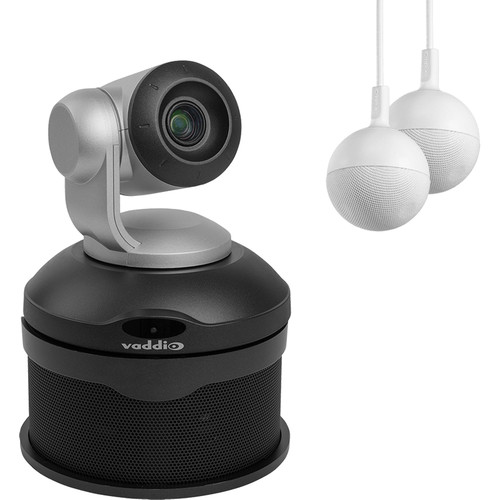 Vaddio ConferenceSHOT AV 1080p PTZ Camera System with Speaker & Two Microphones (Silver/Black)