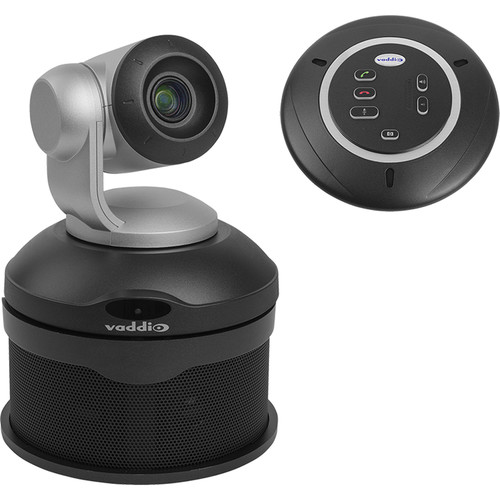 Vaddio ConferenceSHOT AV PTZ Camera with Conferencing Speaker and Table Mic (Black)