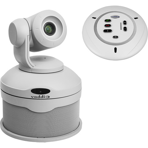 Vaddio ConferenceSHOT AV PTZ Camera with Conferencing Speaker and Table Mic (White)