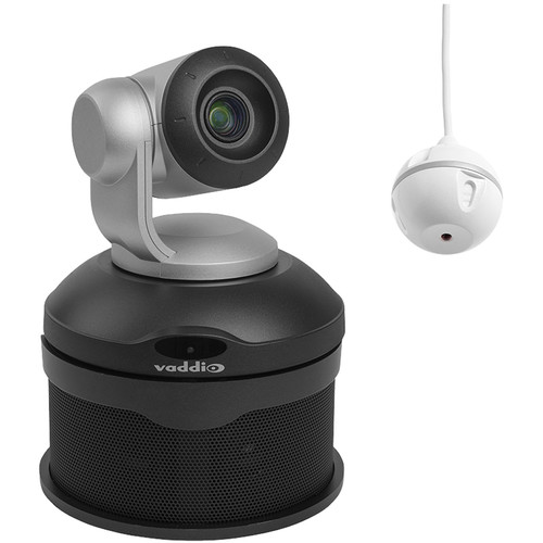 Vaddio ConferenceSHOT AV PTZ Camera and EasyMIC Ceiling MicPOD Bundle (Black)