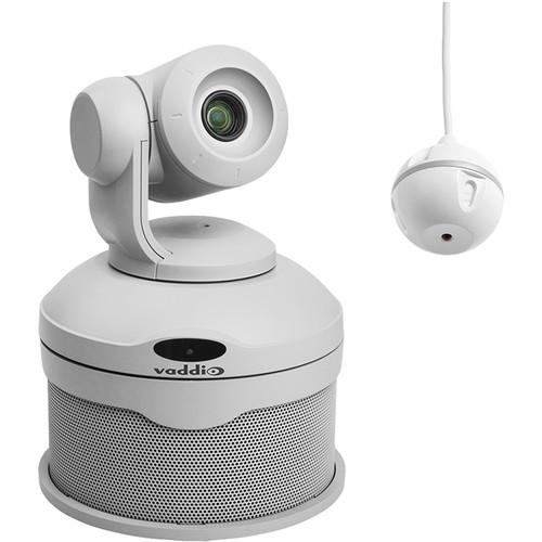 Vaddio ConferenceSHOT AV PTZ Camera and EasyMIC Ceiling MicPOD Bundle (White)