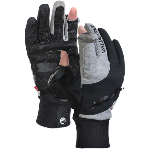 Vallerret Women's Nordic Photography Gloves (Extra-Small, Black/Gray)