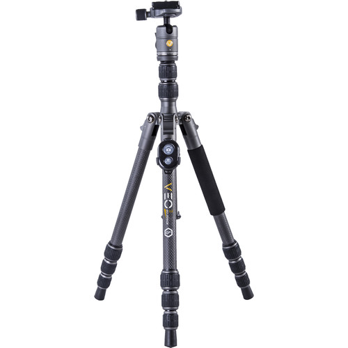Vanguard VEO 3 GO 204CB Carbon Fiber Tripod/Monopod with T-45 Ball Head, Smartphone Connector, and Bluetooth Remote