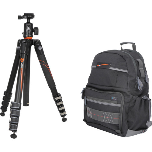 Vanguard VEO 265AB Aluminum Tripod Kit with TBH-50 Ball Head and VEO 42 Backpack