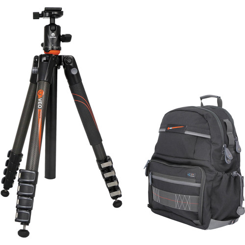 Vanguard VEO 265CB Carbon Fiber Tripod Kit with TBH-50 Ball Head and VEO 42 Backpack