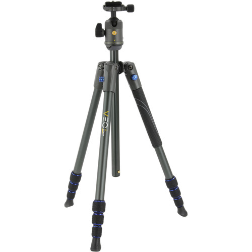 Vanguard VEO 2 204AB Aluminum Tripod with Compact Ball Head (Blue, 4.4')