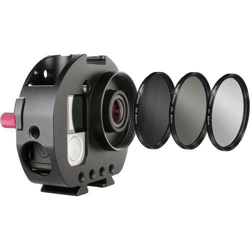 Varavon Armor GoPro Standard Cage with UV, ND8 & CPL Lens Filters
