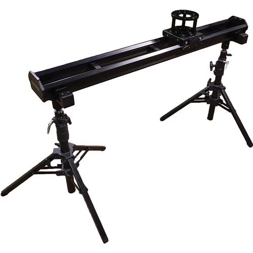 "VariZoom 54"" Varislider Vsm1-U Camera Slider Kit W/ Heavy-Duty Column Stands, Tripod/Stand Mounts, And 4 Rise"