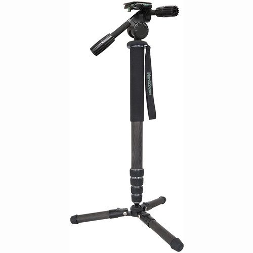 VariZoom ChickenFoot Carbon Monopod with VZPH1568 3-Way Pan/Tilt Head