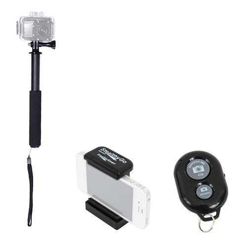 VariZoom Ultimate POV Pole with Smartphone Remote, Phone Clamp and Camera Support Pole