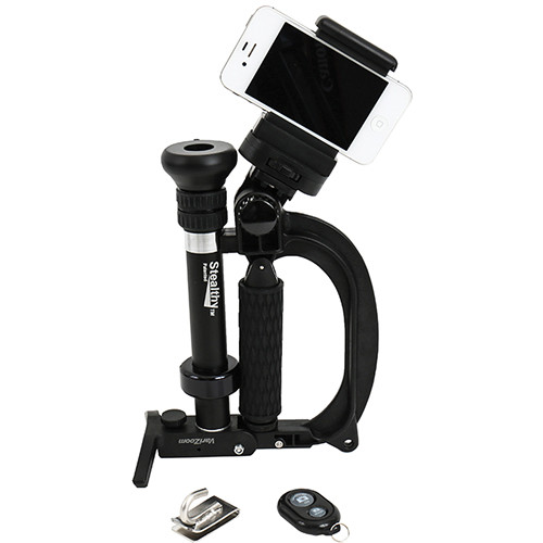 VariZoom StealthyGo Plus Multi-Use Support & Stabilizer with Smartphone Clamp & Bluetooth Remote (Black)