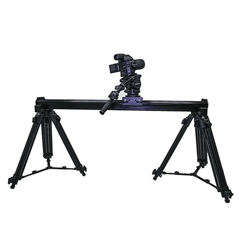 VariZoom VariSlider VSM1 Camera Slider with Pair of Tripod Mounts and Tripod Legs