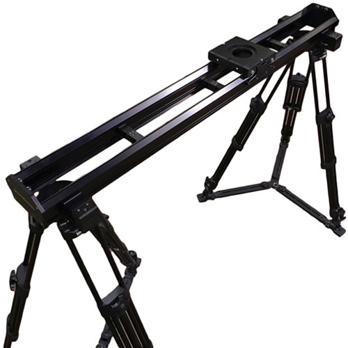 VariZoom VariSlider VSM1 Camera Slider with Two Tripods and Pair of Tripod Mounts