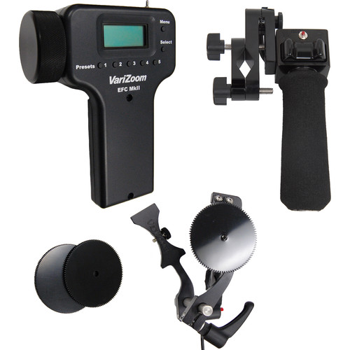 VariZoom Deluxe Zoom Controller and Electronic Focus Controller Bundle for Canon ENG-Style Lenses