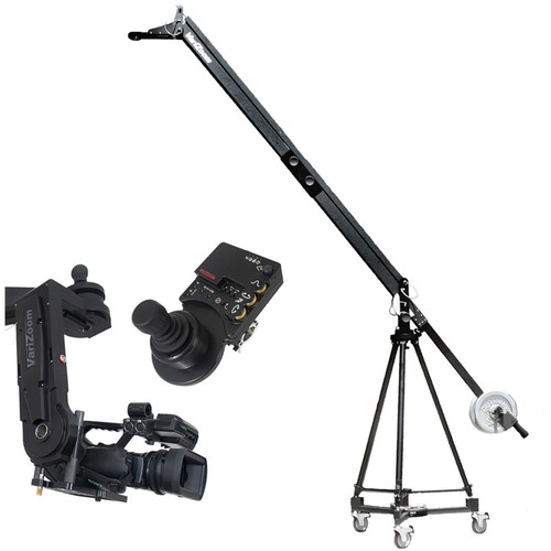 VariZoom VZQJ2K-CPJ QuickJib Camera Crane & CinemaPro Jr K4 Remote Head System