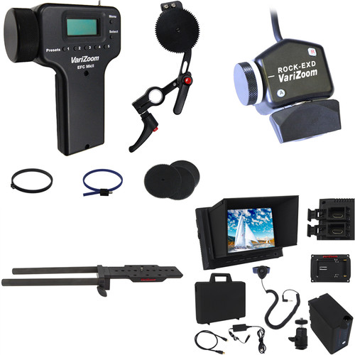 VariZoom Zoom Controller and Electronic Focus Controller Bundle and Monitor Kit for Select Sony Camcorders