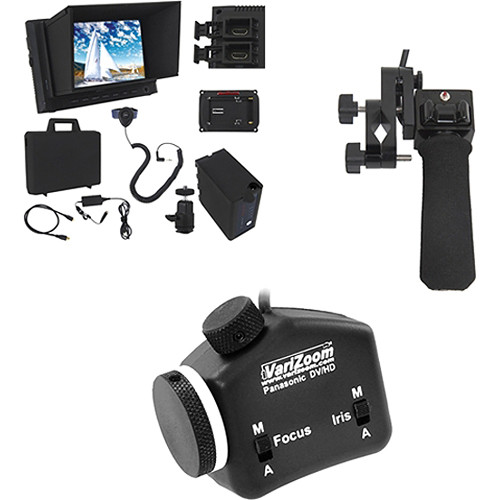 "VariZoom Pistol Grip Zoom, Focus, and Iris with 7"" Monitor Kit for Panasonic"