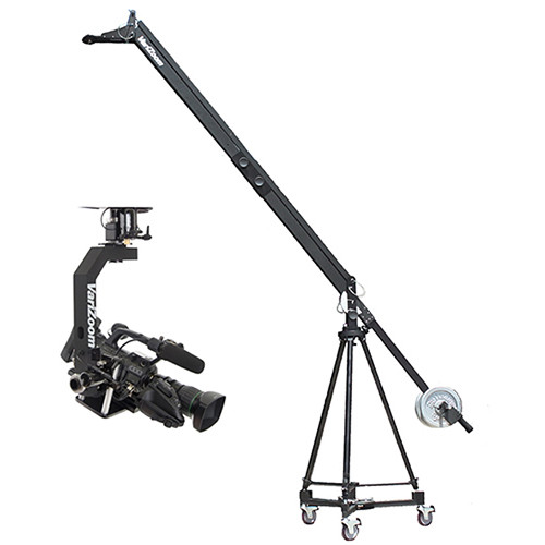VariZoom QuickJib2 Kit with TCR100 Tripod, D100 Dolly, MC100 Motorized Head