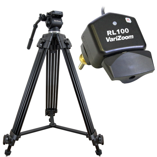 VariZoom VZTK75A-RL100 Video Camera Tripod LANC Control Kit