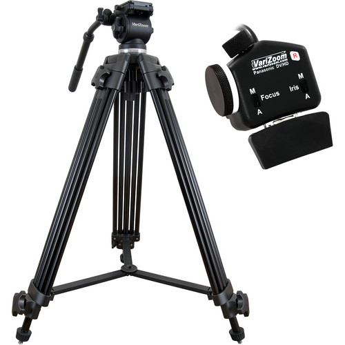 VariZoom VZTK75A Tripod System with VZROCKPZFI for Select Panasonic Cameras