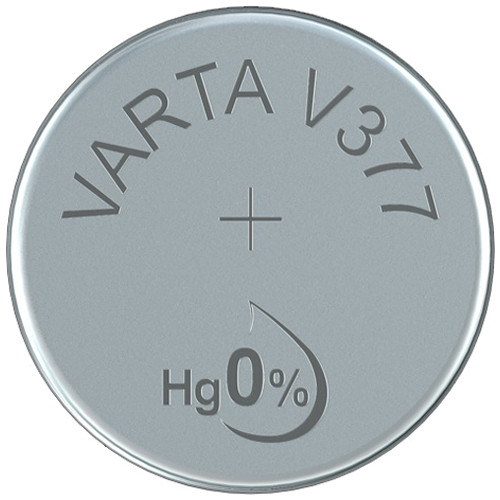 Varta V377 Silver Oxide Button Cell Battery (1.55V, 21mAh)