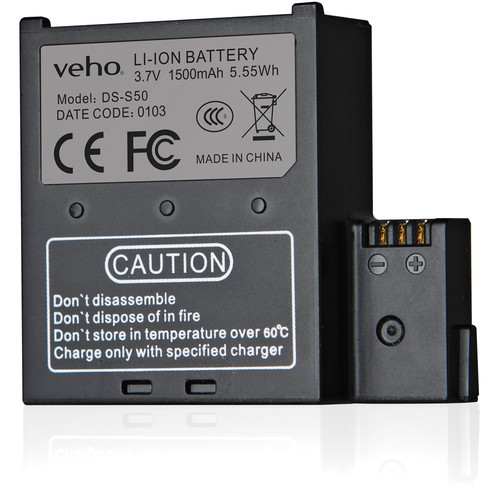 veho 1500mAh Spare Battery for MUVI K-Series Action Camera