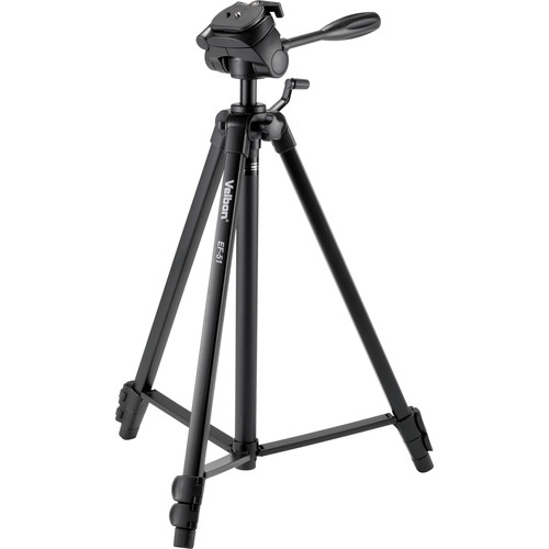 Velbon EF-51 Aluminum 3-Section Tripod with 3-Way Head