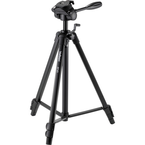 Velbon EF-61 Aluminum 3-Section Tripod with 3-Way Head