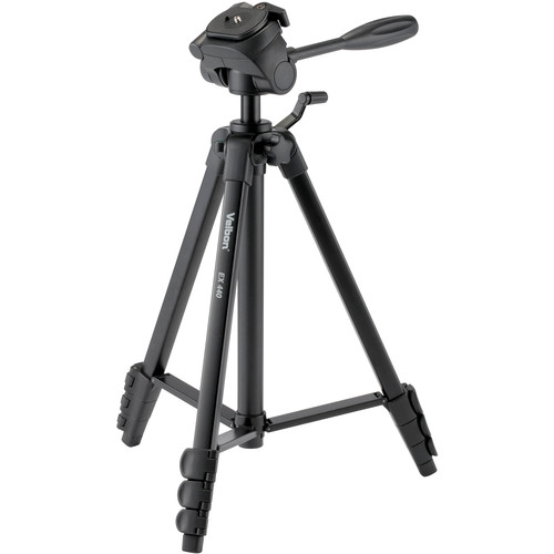 Velbon 4-Section Lightweight Tripod with 3-Way Panhead and QR Plate