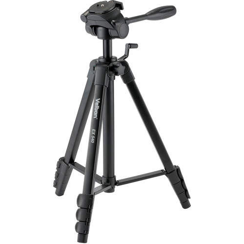 Velbon 4-Section Full Size Tripod with 3-Way Panhead and QR Plate