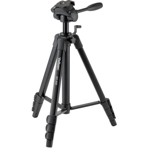 Velbon EX-640 Aluminum Tripod with 3-Way Pan and Tilt Head