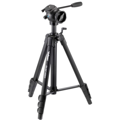 Velbon 4-Section Full Size Tripod with 2-Way Fluid Head and QR Plate