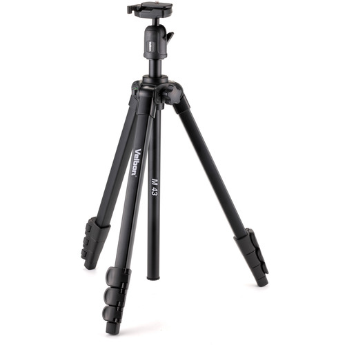 Velbon 4-Section Full Size Tripod and Ball Head with QR Plate