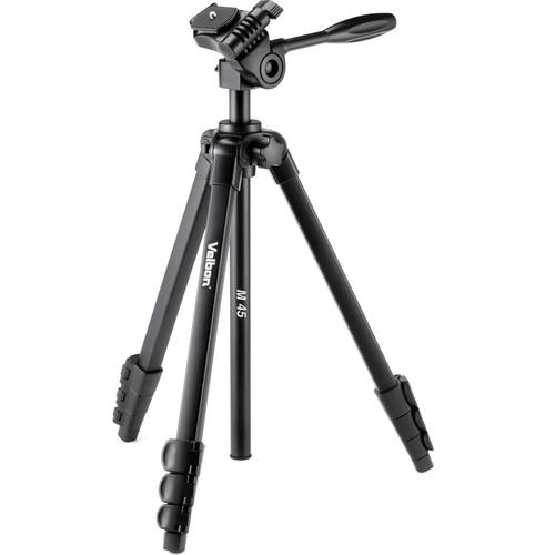 Velbon M45 4-Section Aluminum Tripod with 3-Way Head