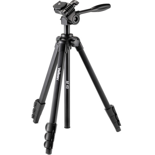 Velbon 4-Section Full Size Tripod 3-Way Panhead with QR Plate