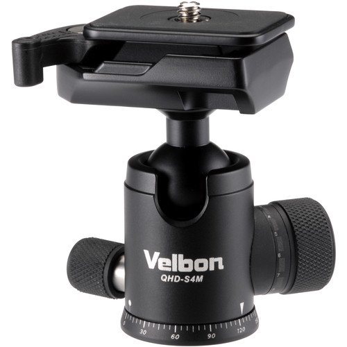 Velbon QHD-S4M Ball Head with Two Stopper Knobs