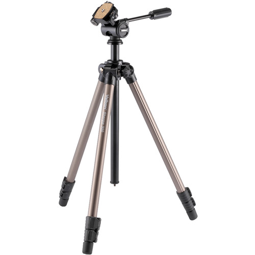 "Velbon 3-Section Field Tripod 1/4"" Screw Mount with 3/8"" Adapter and QR Plate"