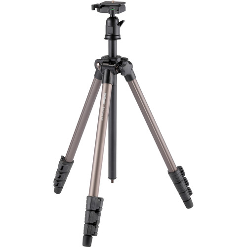 "Velbon 4-Section Field Tripod 1/4"" Screw Mount with Detachable Ball Head and QR Plate"