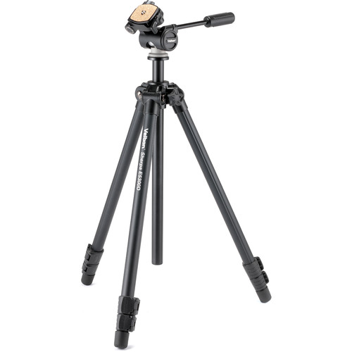 """Velbon 3-Section Field Tripod 1/4"""" Screw Mount with 3/8"""" Adapter Detachable 3-Way Panhead with Qr Plate"""