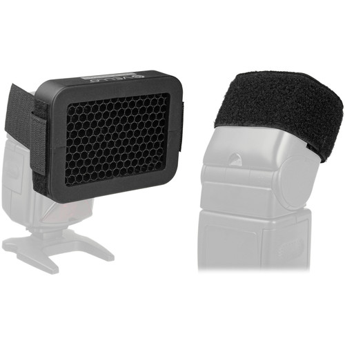 """Vello 1/4"""" Honeycomb Grid with Cinch Strap for Portable Flash Kit"""