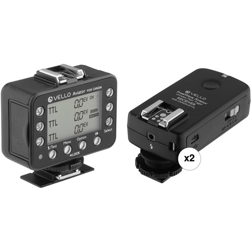 Vello FreeWave Aviator Wireless Flash Trigger Transceiver & Two Receiver Kit for Canon
