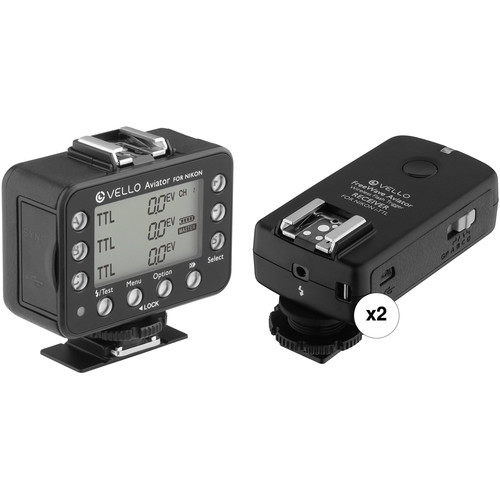Vello FreeWave Aviator Wireless Flash Trigger Transceiver & Two Receiver Kit for Nikon