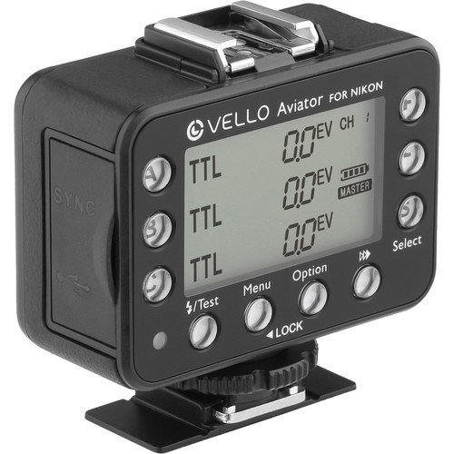 Vello FreeWave Aviator Wireless Flash Trigger Transceiver & Receiver Kit for Nikon