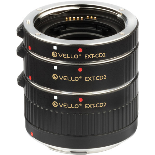 Vello Auto Extension Tube Set for Canon EF/EF-S Mounts and Lenses
